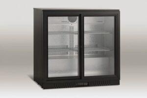 Barkøleskab med skydedøre - 211 liter